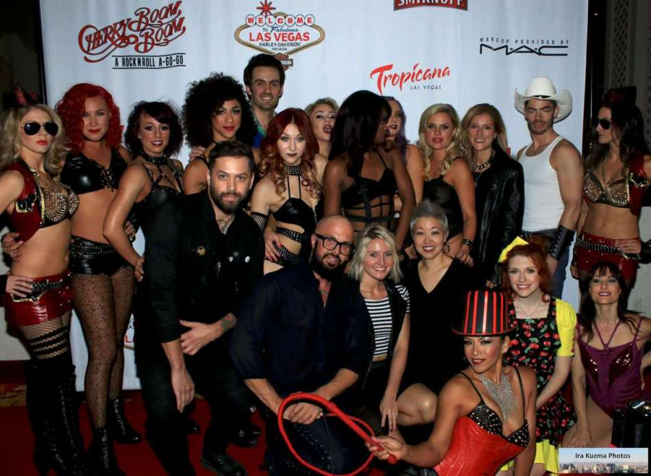 Cherry Boom Boom Red Carpet - with The Cast of Cherry Boom Boom — at Tropicana Las Vegas.