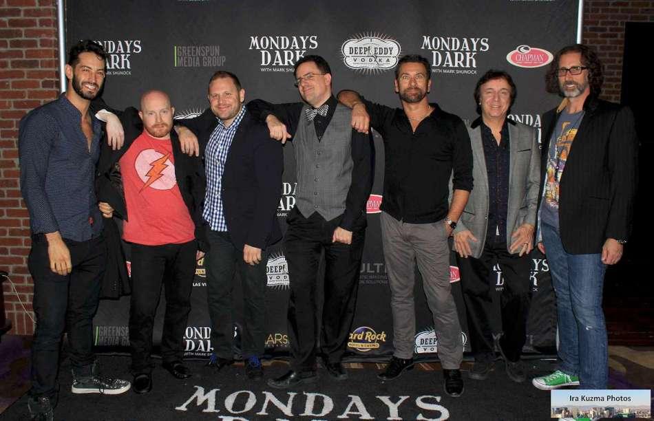 Mondays Dark Red Carpet - Candlelighters — with Kevin Mullinax, Chandler Judkins, Kenny Davidsen, Dennis Blair, James D'Arrigo at Vinyl Las Vegas.